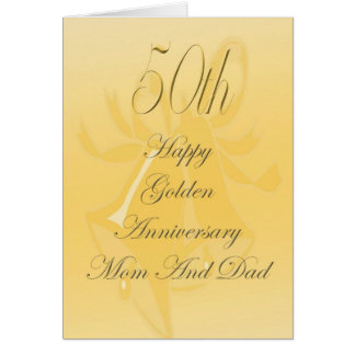 50th Wedding Anniversary Card For Mum And Dad
