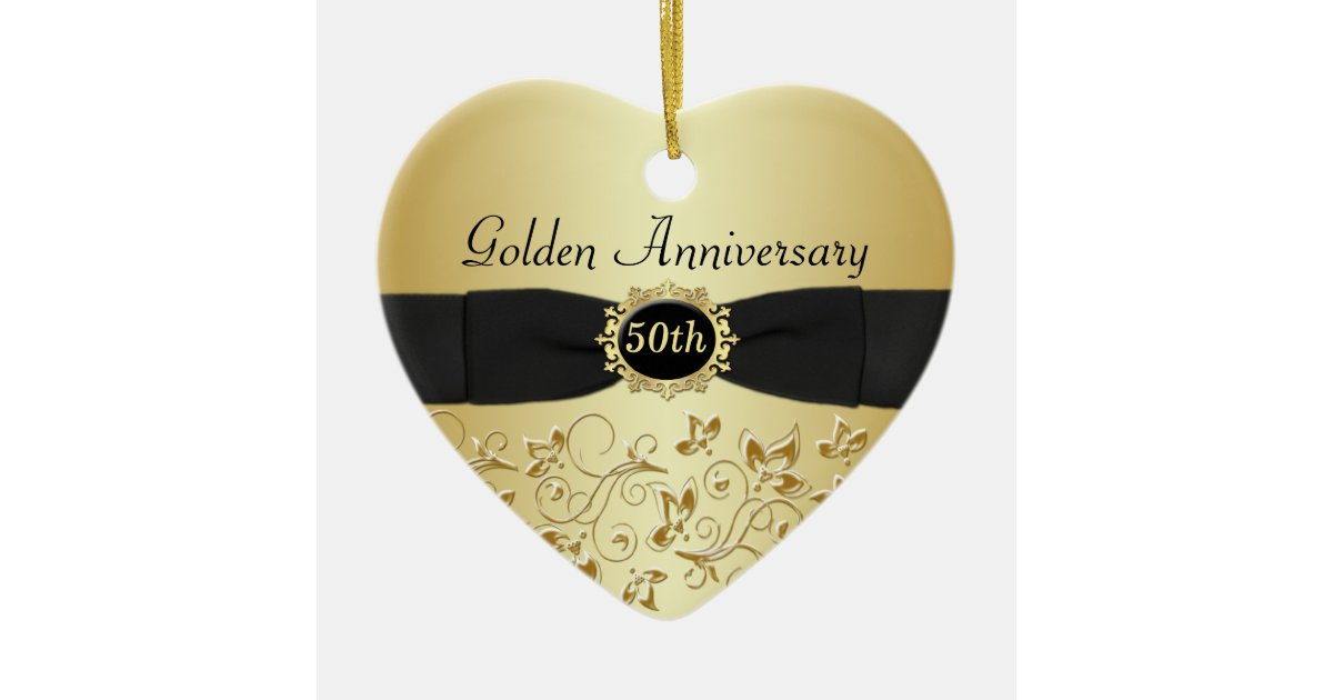 50th Wedding Anniversary Christmas Ornament Zazzle Co Uk