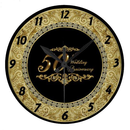 50th Wedding Anniversary Clock
