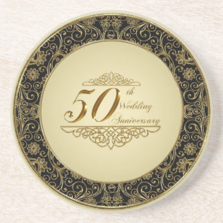 50th Wedding Anniversary Coaster