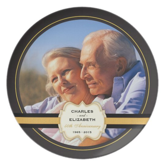 50th Wedding Anniversary Commemorative Plate