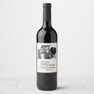 50th Wedding Anniversary Custom Wine Label