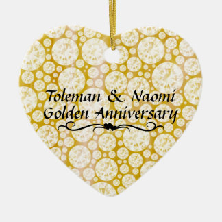 50th Wedding Anniversary Diamonds | Personalized Christmas Ornament