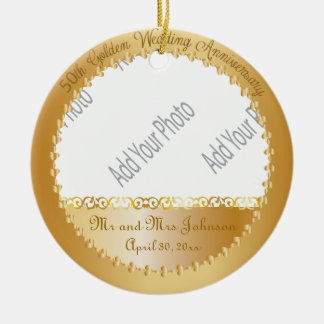 50th Wedding Anniversary - DIY Photo Christmas Ornament