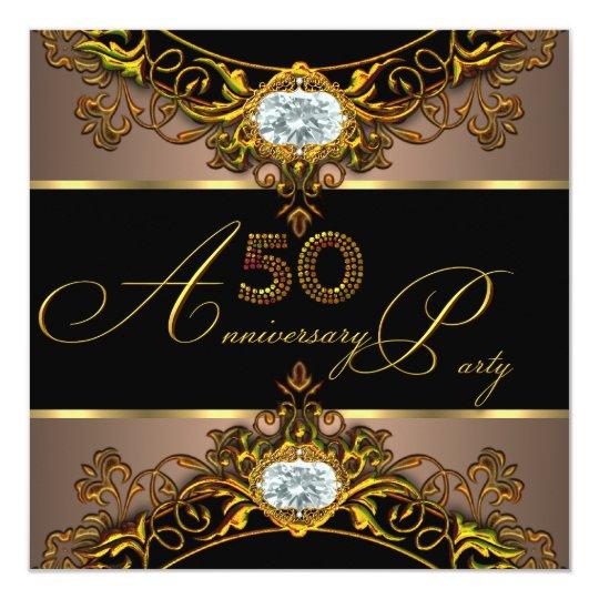 50th Wedding Anniversary Elite Coffee Black Gold 2