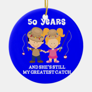 50th Wedding Anniversary Funny Gift For Him Round Ceramic Decoration