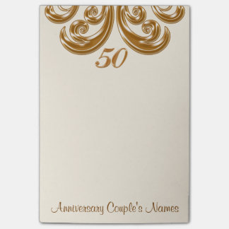 50th Wedding Anniversary Gifts for Grandparents Post-it Notes