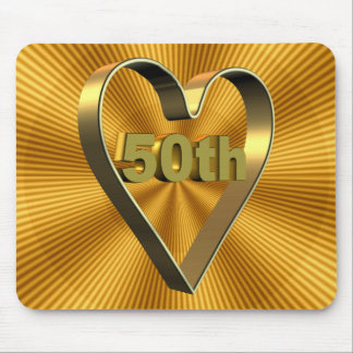 50th Wedding Anniversary Gifts Mouse Mat