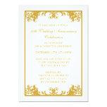 50th Wedding Anniversary Gold Flourish Scroll 13 Cm X 18 Cm Invitation Card