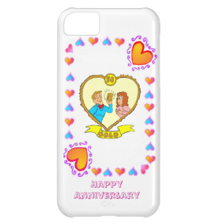 50th wedding anniversary gold iPhone 5C cases