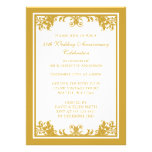 50th Wedding Anniversary Golden Flourish Scroll