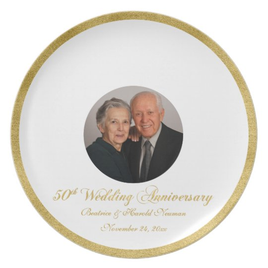 50th Wedding Anniversary Guest Signing Plate