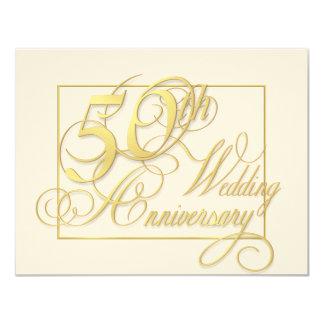 "50th Wedding Anniversary - Inexpensive Invitations 4.25"" X 5.5"" Invitation Card"