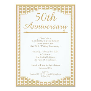 50th anniversary wedding invitations announcements zazzle 50th wedding anniversary invitation stopboris Image collections