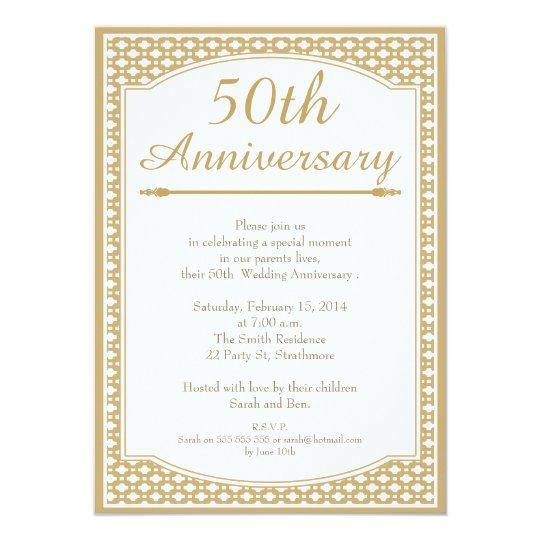 Th wedding anniversary invitation zazzle