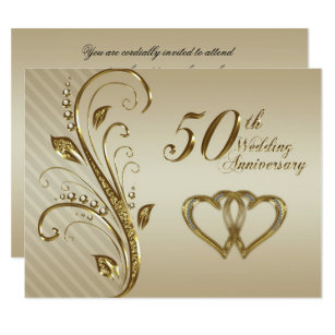 50th wedding anniversary invitations announcements zazzle uk 50th wedding anniversary invitation card stopboris Images
