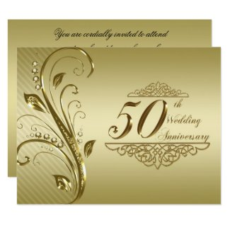 50th Wedding Anniversary Invitation Card