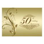 50th Wedding Anniversary Invitation Card