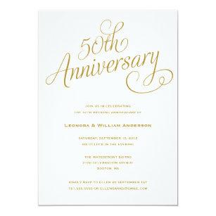 50th wedding anniversary invitations announcements zazzle uk
