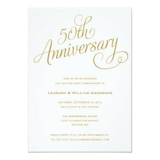 50TH | WEDDING ANNIVERSARY INVITATIONS