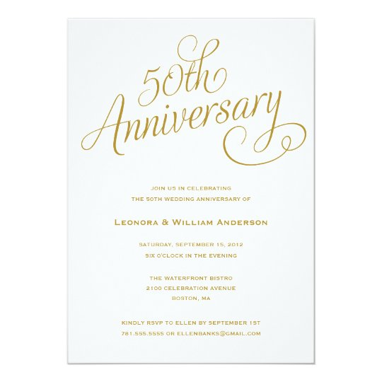 50th wedding anniversary invitations zazzle co uk