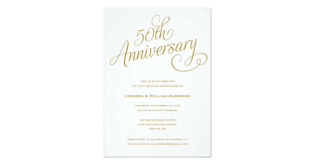 Th wedding anniversary invitations zazzle