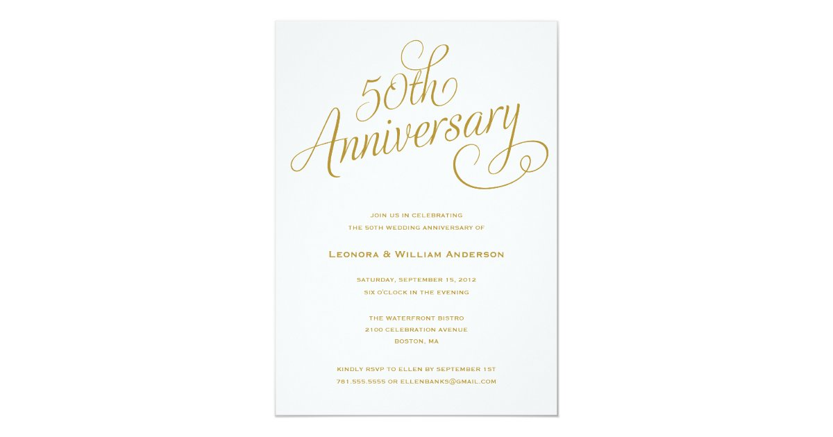 Cheap 50th Wedding Anniversary Invitations: WEDDING ANNIVERSARY INVITATIONS