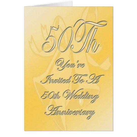 50th Wedding Anniversary Invite Card