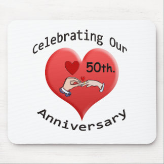 50th. Wedding Anniversary Mouse Mat