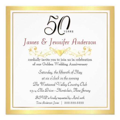 Th wedding anniversary party invitations cm