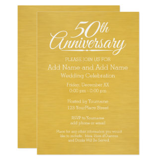 50th Wedding Anniversary Personalised Golden Card