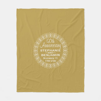 50th Wedding Anniversary Personalized Fleece Blanket