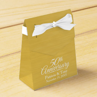 50th Wedding Anniversary Personalized Golden Wedding Favour Boxes