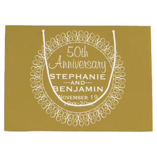 50th Wedding Anniversary Personalized Large Gift Bag