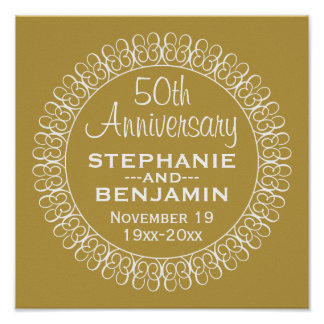 50th Wedding Anniversary Personalized Poster