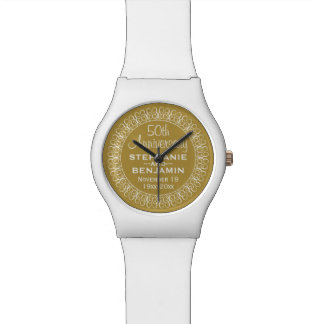 50th Wedding Anniversary Personalized Watch