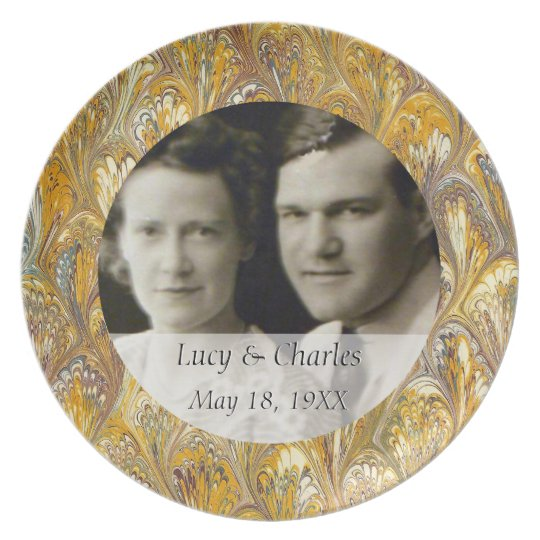 50th Wedding Anniversary Photo | Custom Keepsake Plate