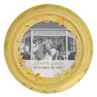 50th Wedding Anniversary Photo | Gold Keepsake Plate
