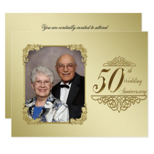 50th Wedding Anniversary Invitations & Announcements | Zazzle UK