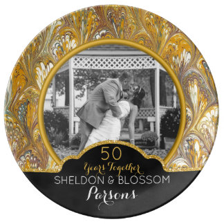 50th Wedding Anniversary Photo Keepsake 50 Years Plate