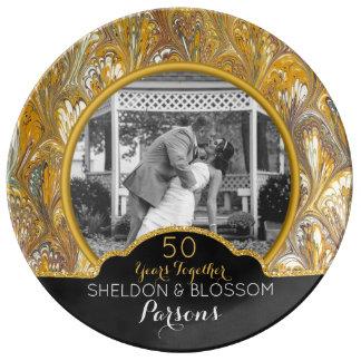 50th Wedding Anniversary Photo Keepsake 50 Years Plate