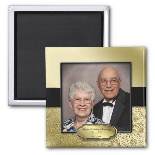 50th Wedding Anniversary Photo Magnet