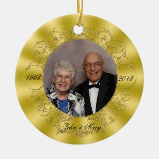 50th Wedding Anniversary Photo Ornament