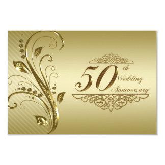 "50th Wedding Anniversary Photo RSVP Card 3.5"" X 5"" Invitation Card"