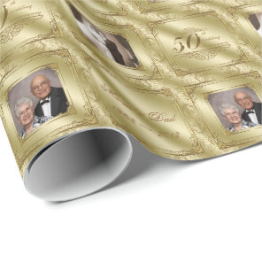 50th Wedding Anniversary Photo Wrapping Paper