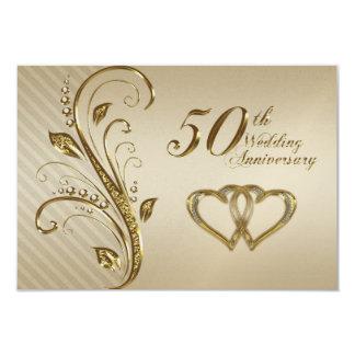 50th Wedding Anniversary RSVP Card 9 Cm X 13 Cm Invitation Card