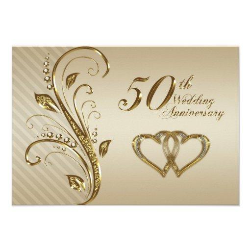 50th wedding anniversary rsvp card 9 cm x 13 cm invitation