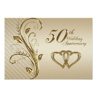 50th Wedding Anniversary RSVP Card Personalised Invites