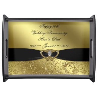 50th Wedding Anniversary Serving Tray