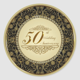 50th Wedding Anniversary Sticker